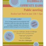 Balbriggan Community Radio  Public Meeting  This Wednesday, June 12th @ 8pm