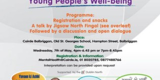 Talks & discussions how to support young people's well-being – May 7th, Balbriggan